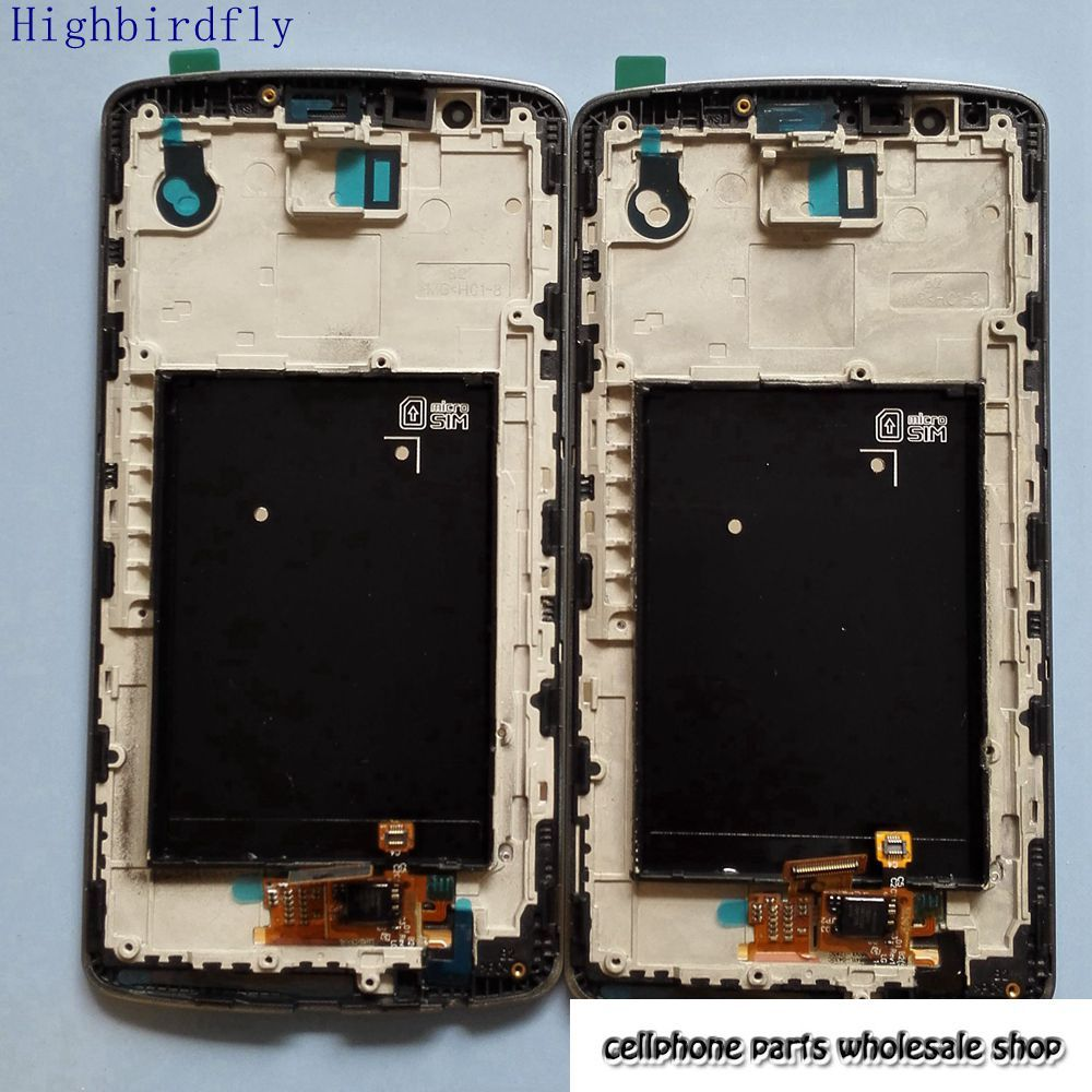 Highbirdfly LCD Display+Digitizer Touch Glass+Frame Assembly For Lg G3 D850 D855 Grey/White/Gold Replacement Screen