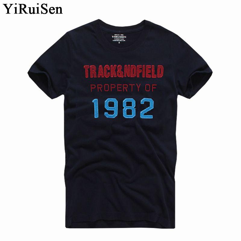 YIRUISEN marque New York Style T-Shirt hommes à manches courtes mode 2016 été T-Shirt blanc Homme Camisetas Masculinas