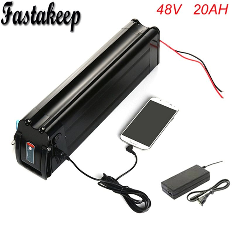Samsung cell electric bike battery 48v 20ah 1000w lithium ion battery pack for electric bike with charger +USB port