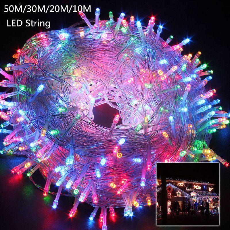 10M 20M 30M 50M LED string Fairy light holiday Patio Christmas Wedding decoration AC220V Waterproof outdoor light garland