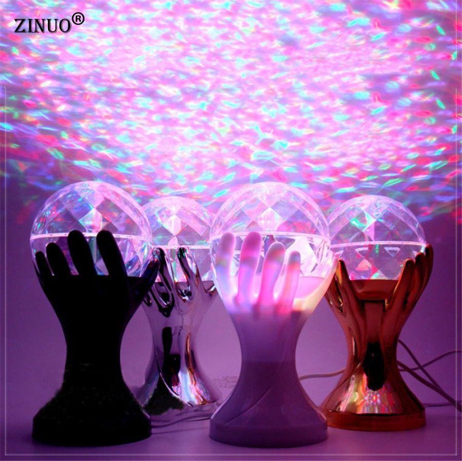 RGB LED stade lampes palmier cristal magique boule effet de scène éclairage Auto rotatif lampe partie Disco DJ lumière 110 V 220 V