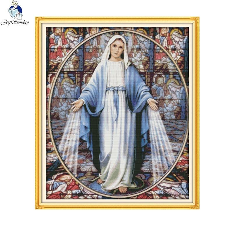 Joy Sunday Virgin Mary (6) Counted Cross Stitch DIY 14CT and 11CT For Embroidery Home Decor Needlework Factory Wholesale