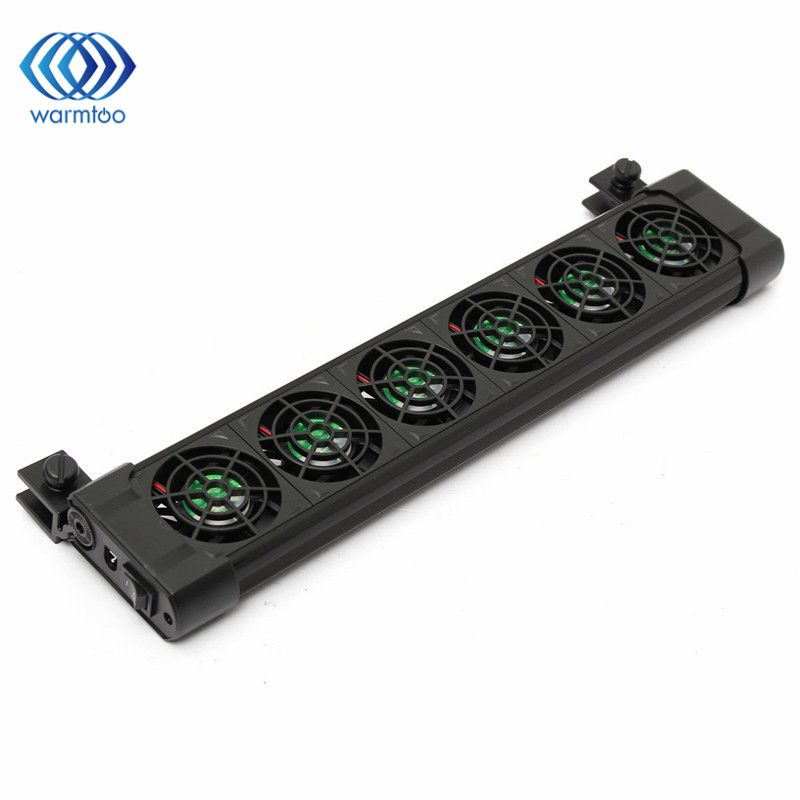 New Cooling Coldwind 6 Fans Aquarium Chillers For 240L DV 12V Fish Tanks Low Power Consumption Cooling Easily 411 x 48 x 118mm