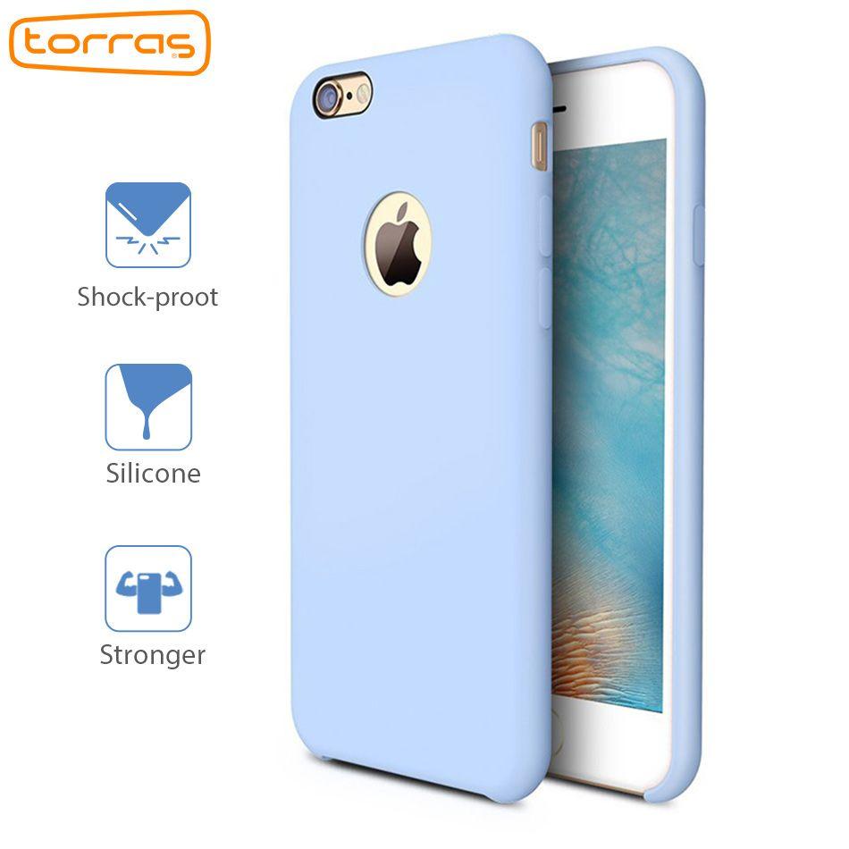 TORRAS Liquide Étui En Silicone pour iPhone 6 6 s Plus 7 7 Plus Cas de Téléphone anti-Choc Couverture pour Apple Microfibre De Luxe Téléphone Cas