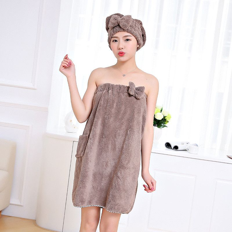 XC USHIO Soft Bath Towel With Pocket Pineapple Lattice Style Christmas Gift Towel Set Hair Drying Cap Hat Head Towel Spa Towel