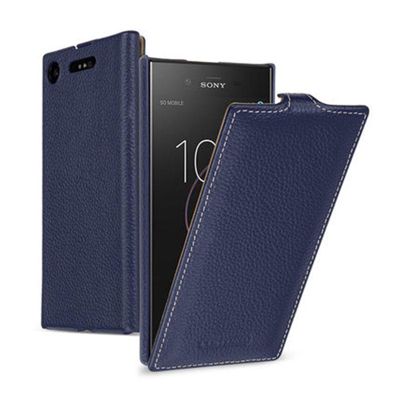 2018 neue Business Up Down Flip Fall Für Sony Xperia XZ1 Compact 4,6 Fall Echtes Leder Abdeckung Tasche für sony XZ1 5,2 Fällen