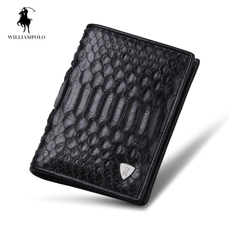 2018 Python skin Men wallet Multicard Genuine Leather wallets Corss Pattern Men