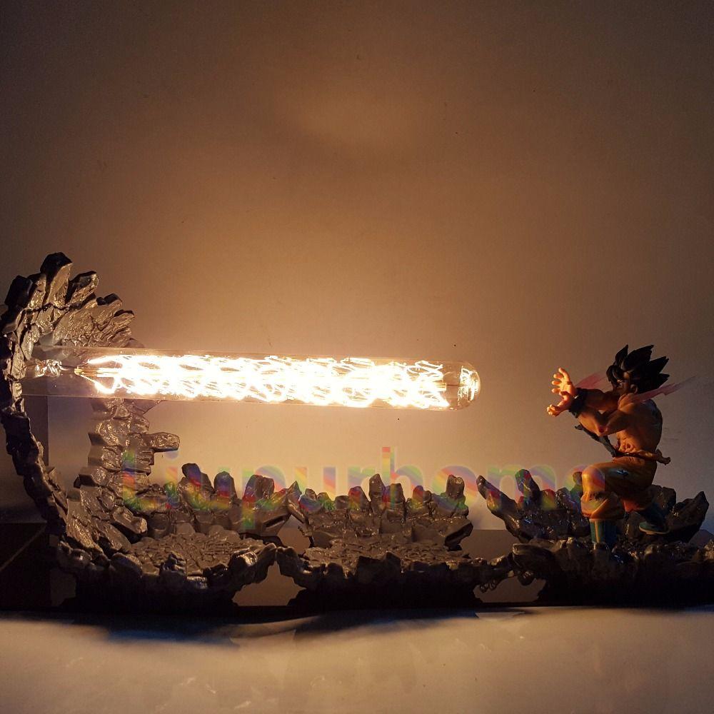Dragon Ball Z Son Goku Led Licht Lampe Kamehameha Angriff Anime Dragon Ball Z Goku Super Saiyan DBZ Led Nacht lichter