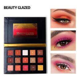 Kecantikan Mengkilap 15 Warna Eyeshadow Rood Make Up Tahan Lama Eye Shadow Matte Mudah untuk Memakai Makeup Palet Paleta de Sombra