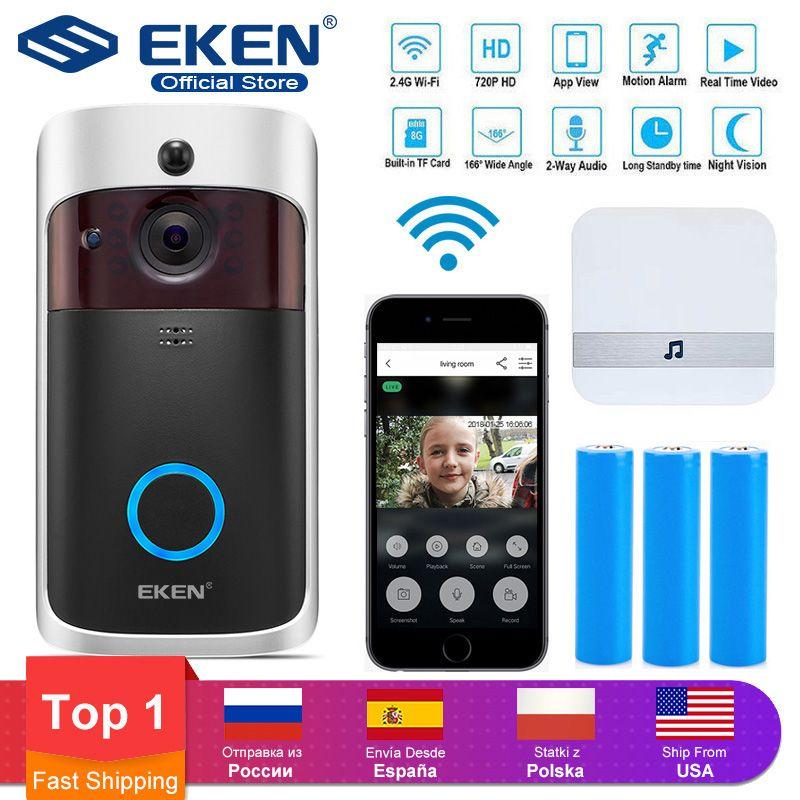 Smart IP Video Intercom WI-FI Video Door Phone Door Bell WIFI Doorbell Camera For Apartments IR Alarm Wireless Security Camera