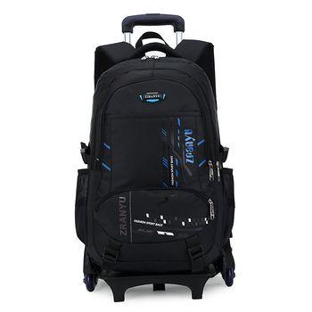 BeaSumore High-capacity Student Shoulder Backpack Rolling Luggage Children Trolley Suitcases Wheel Cabin Travel Bag School Bag
