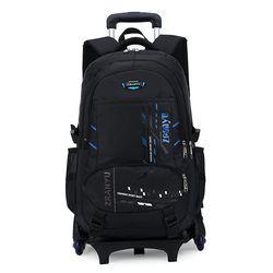 Beasumore Kapasitas Tinggi Siswa Bahu Ransel Rolling Luggage Anak Troli Koper Roda Kabin Tas Travel Tas Sekolah