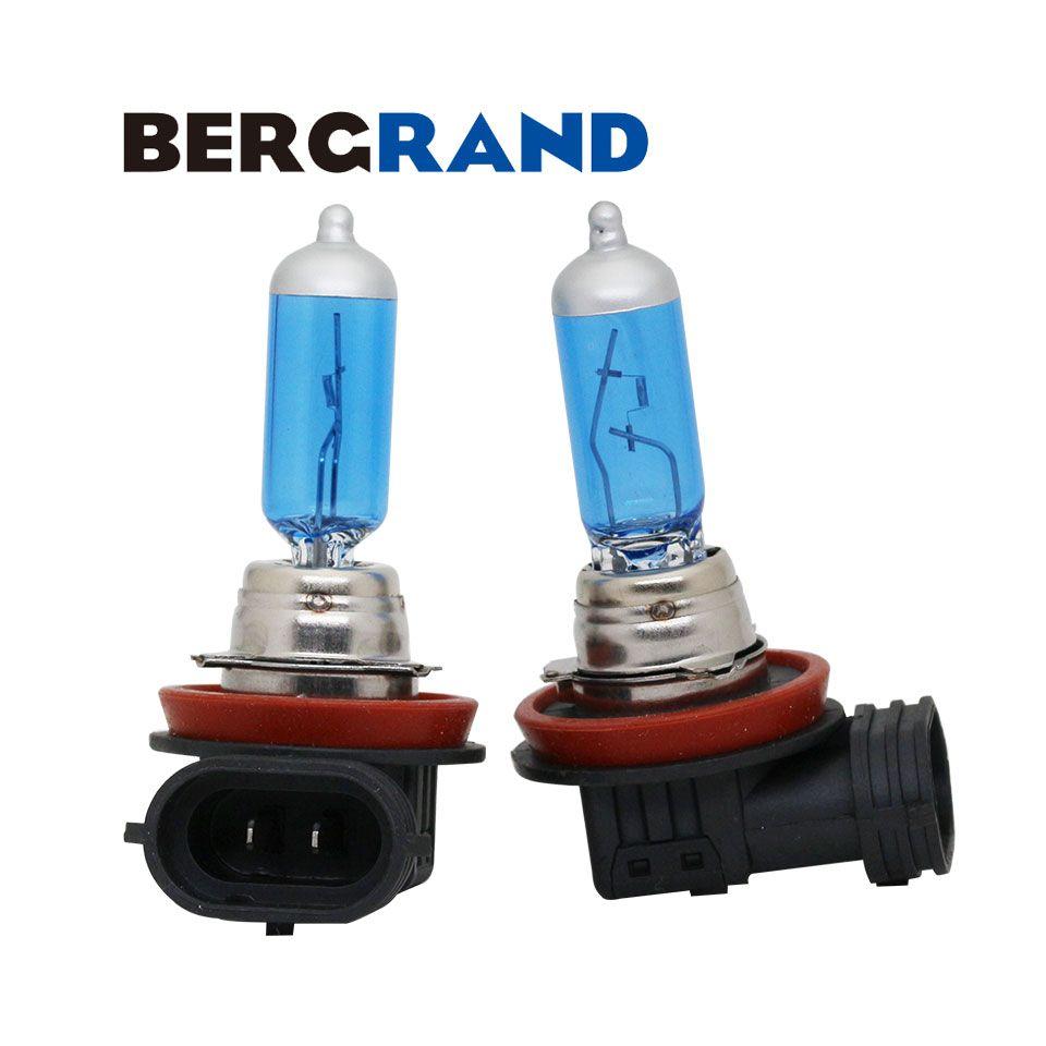 H16 12 V 19 W lampe halogène antibrouillard xénon 4300 K ampoule de phare Super blanc PGJ19-3 ampoules d'arrêt UV pour Auto 2 pièces