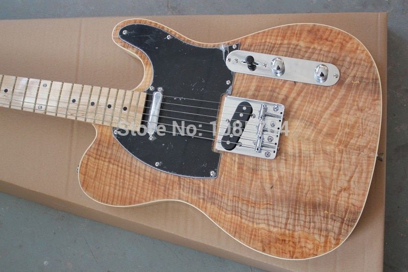 Free shipping wholsale NEW guitarra TL guitarra/with maple flame top clear color oem electric guitar/guitar in china