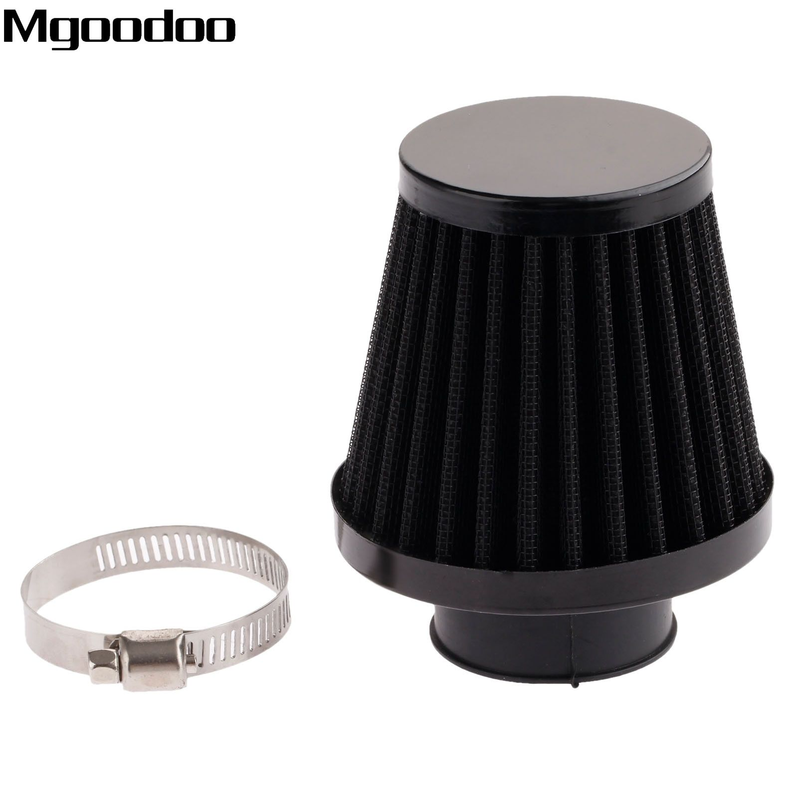 Mgoodoo 35mm Universal Motorcycle Air Filter Cleaner Clamp-on Motocross Air Pods ATV Dirt Pit Bike Scooter For Honda Suzuki KTM