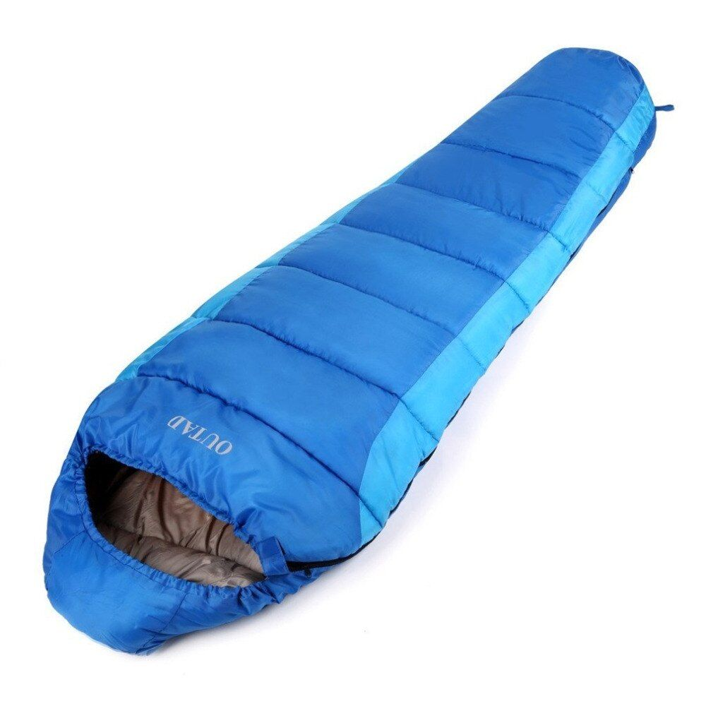 OUTAD Sleep Bag Outdoor Mummy 0-10 Degree Sleeping Bag for Camping/Hiking/Backpacking free shipping