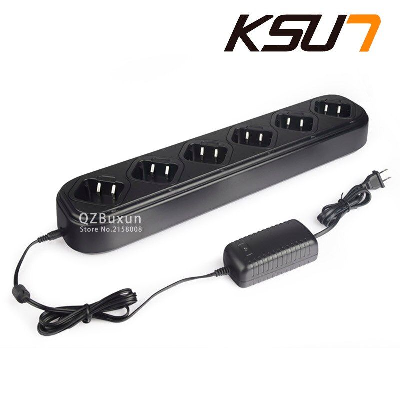 Single Row Six Way Universal Rapid Charger for Walkie Talkie Retevis or baofeng H777 Baofeng BF 888S Two Way Ham Radio C9042A