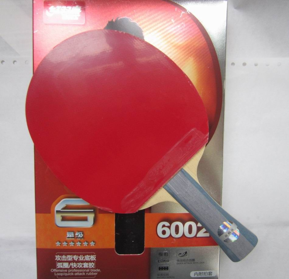 Original DHS 6002 (6002, 6 STERNE) FL langen griff und 6006 CS kurze handl Tischtennis Schläger mit Fall schläger sport indoor-sport