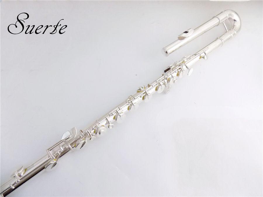 C key Bass Flute instruments 14 Holes Cupronickel Flute bass Off Set G Key ocarina with Case musical instruments