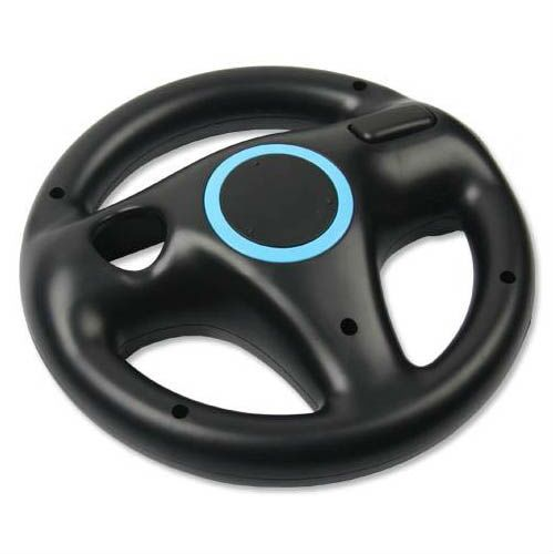 Child Game Gift 2pcs White + Black Steering Kart Racing wheel for Nintendo for Wii Remote control Game For Wii Racing game acc