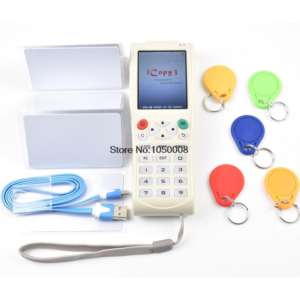 Nueva Computadora De Mano Máquina Clave iCopy 3 con Función de Decodificación Completa Máquina Copiadora RFID NFC Clave de Tarjeta Inteligente IC/ID lector/Escritor Duplicadora