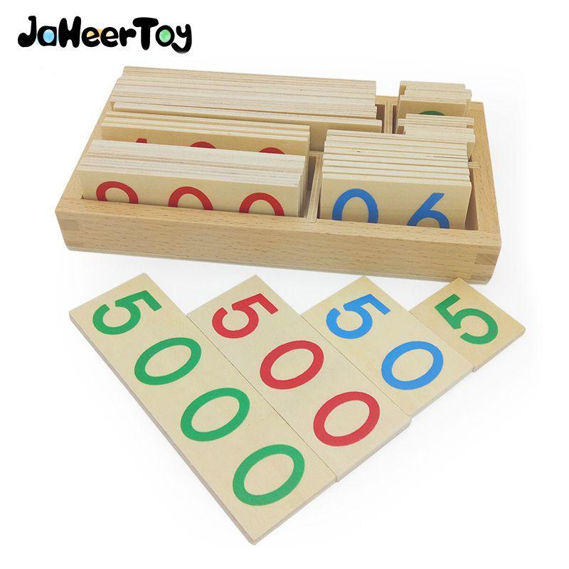 JaheerToy jouets mathématiques Montessori aides pédagogiques jouets éducatifs pour enfants des milliers de centaines dix Cognition numérique à un chiffre