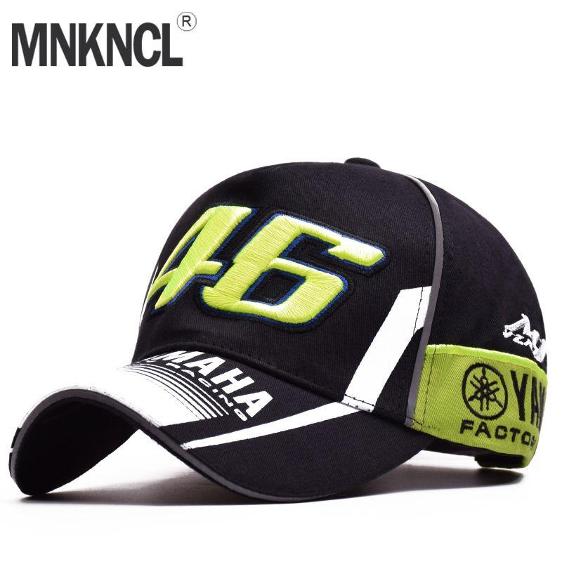 High Quality MOTO GP 46 Motorcycle 3D Embroidered F1 Racing Cap Men Women Snapback Caps Rossi VR46 Baseball Cap YAMAHA Hats