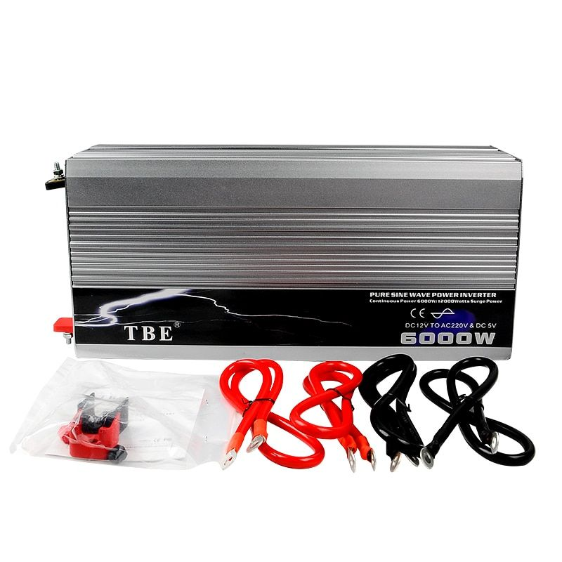6000W Auto Car Pure Sine Wave Power Inverter 12V 220V Converter Pure Sine Inverter Solar Wind Power 12V,24V