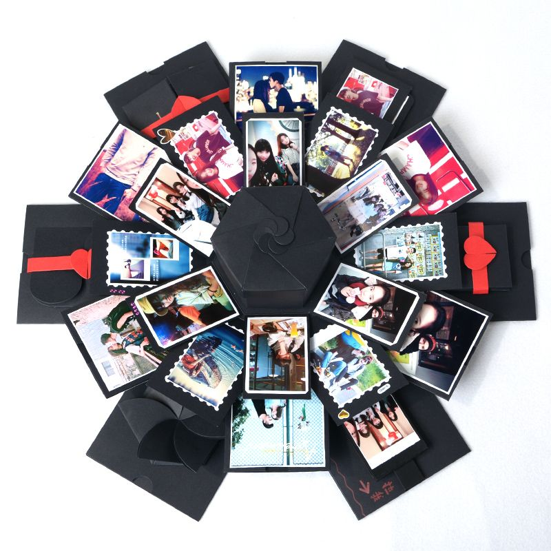 DIY Explosion Gift Box Storage Box Birthday Valentine's Gift Handmade Photo Album Gift with DIY Accessories Kit Boom Gift Box