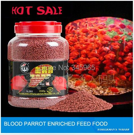 free shipping tropical fish Wholesale blood Parrot fish feed food ,500 g