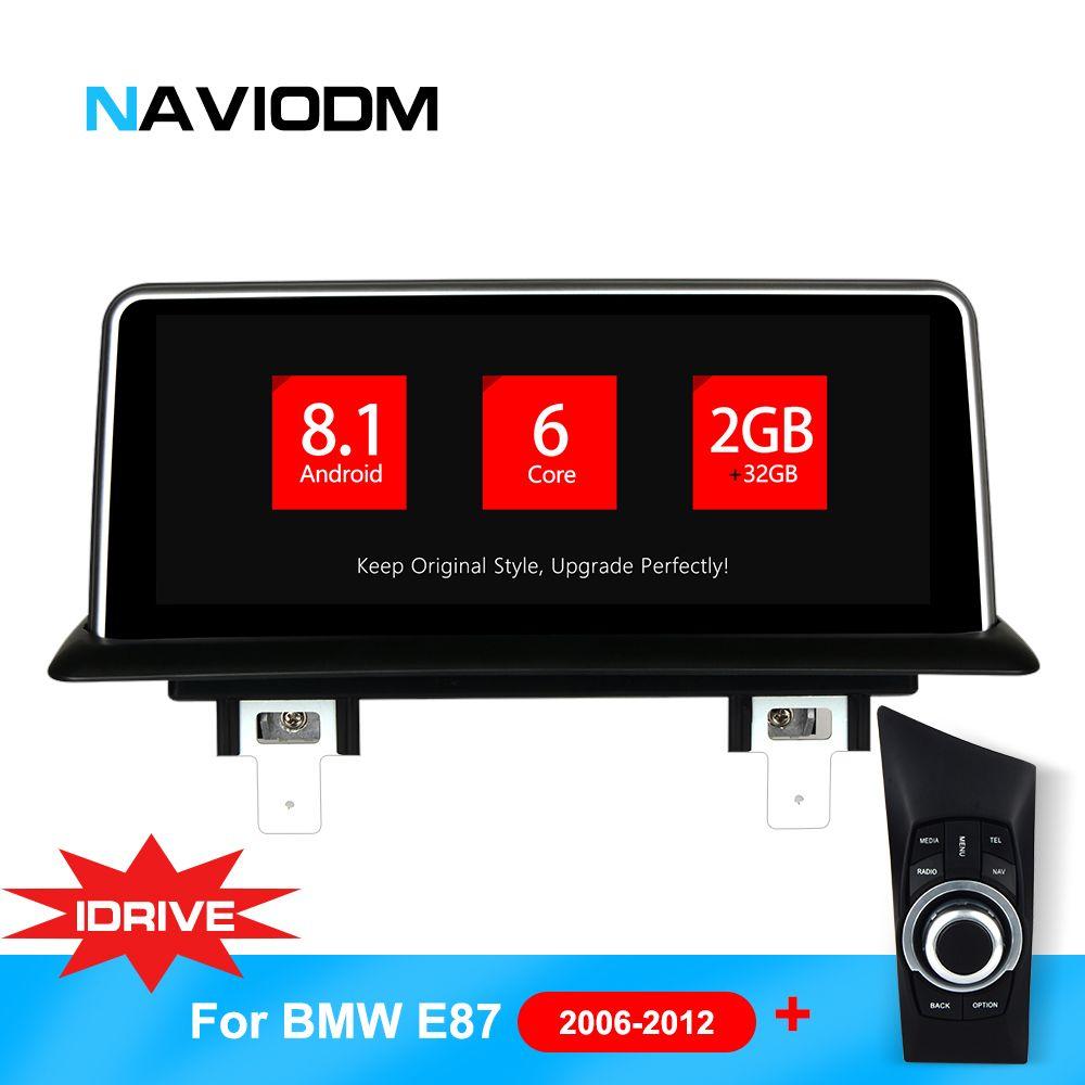 Android 8.1 6 Core Auto Multimedia-Player Auto Auto DVD Navigation Für BMW E87/E82/E81/E88 1 serie idrive system mit joystick