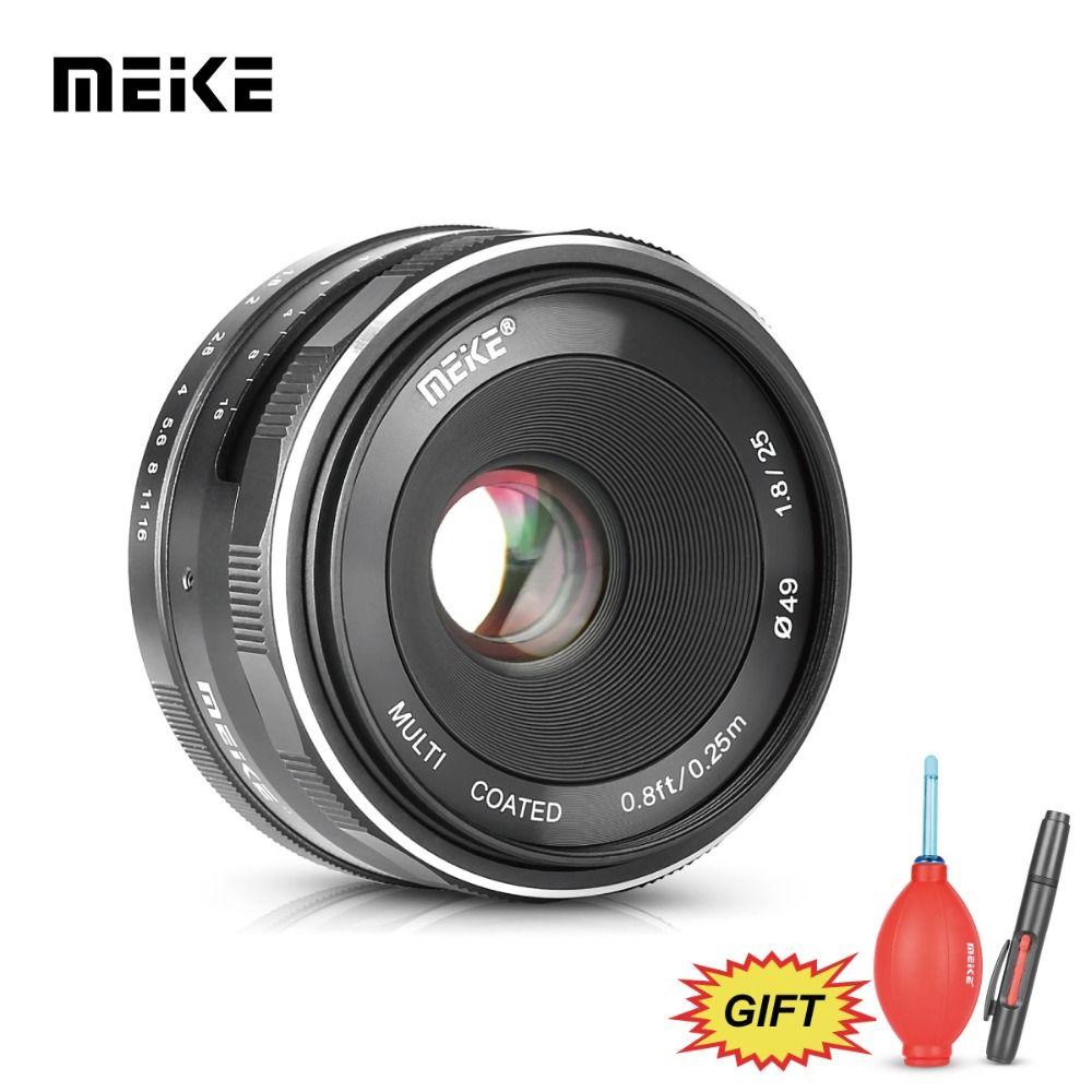MEKE Meike MK 25mm f1.8 Large Aperture Wide Angle Lens Manual for Canon EOS M1 M2 M3 M5 M6 M10 M100 EF-M mount Cameras+Free Gift