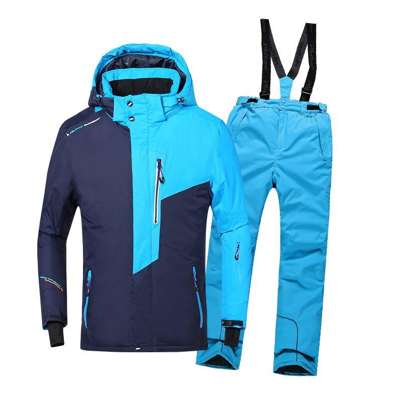 2018 Winter Outdoor Sport Anzug für Jungen Ski Kleidung Winddicht Wasserdicht Thermische Snowboard Schnee Skifahren Jacke Hose Set Schnee Anzug