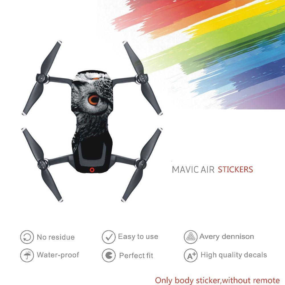 Drone Körper aufkleber Decals Für DJI Mavic Luft Ohne Fernbedienung Schutzfolie Skin für drone zubehör