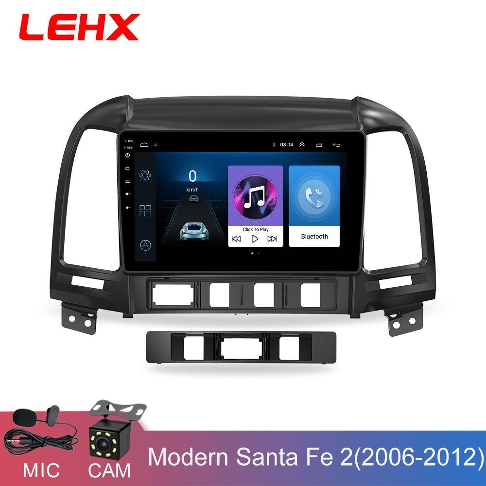 LEHX Auto Radio Android 8.1 2 Din Multimedia-Player Für Hyundai Santa Fe 2005-2012 WIFI Auto DVD Gps Navigation