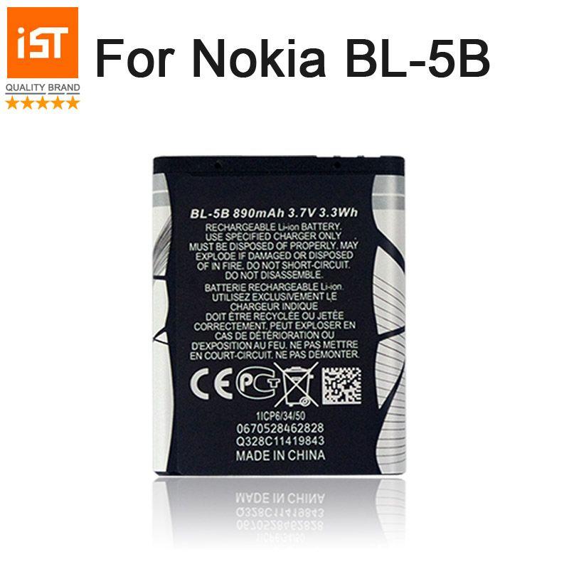 2017 Nouveau 100% IST BL-5B Téléphone portable Original Batterie Pour Nokia BL 5B 5300 5320 6120C 7360 3220 3230 5070 Batterie De Remplacement