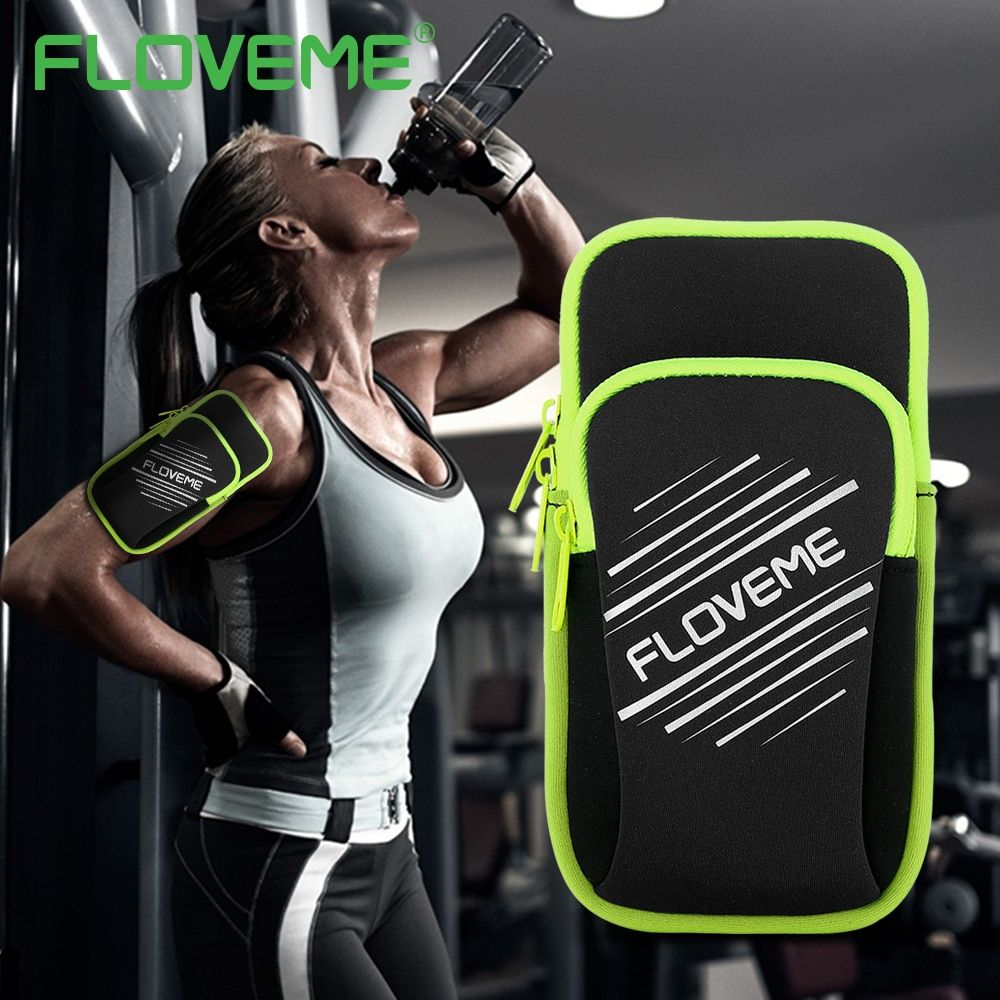 Universal Armband Case For Size Below 5.5 For iPhone 6 6S 7 Plus 5S Sport Running Arm Band For iPhone X 8 5 5S SE Phone Bags