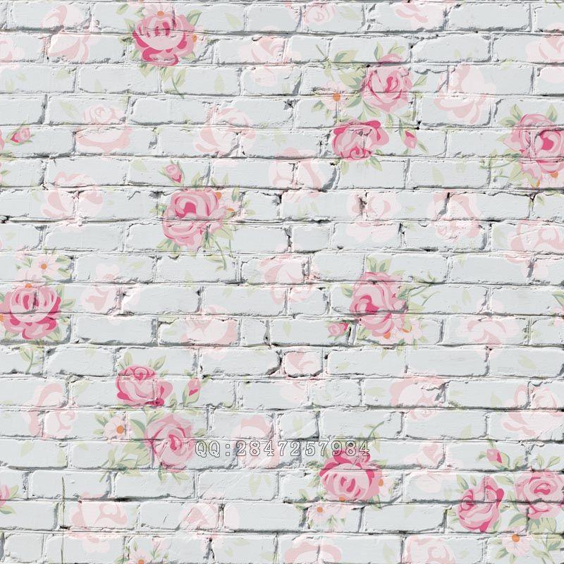 Mehofoto Seamless Vinyl Photography Background Flower Brick Backdrops Computer Children backdrop for photo Studio S-1384