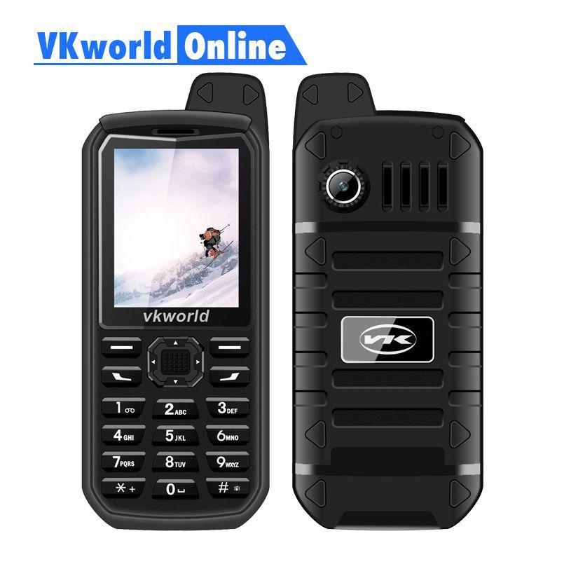 <font><b>Vkworld</b></font> New stone V3 Plus Mobile Phone 2G GSM Dual Sim Phones 3000mAh Long Standby 2.4inch IP54 Waterproof Dustproof Cellphone