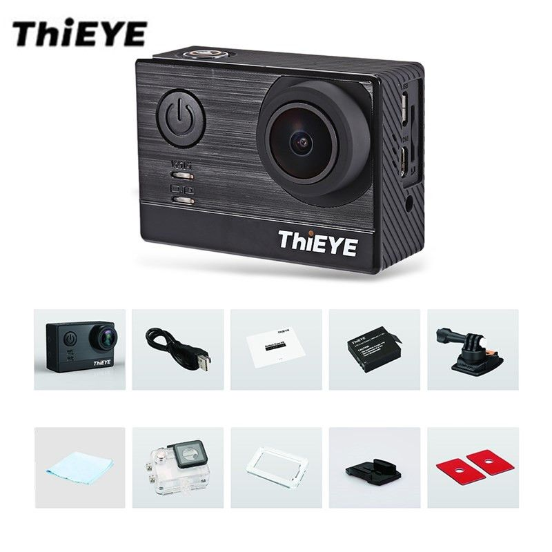 ThiEYE T5e WiFi 4K <font><b>30fps</b></font> Action Camera 12MP 2 inch TFT LCD Touch Screen 1080P Sports Ambarella A12LS75 Chipset IMX117 Sensor HD