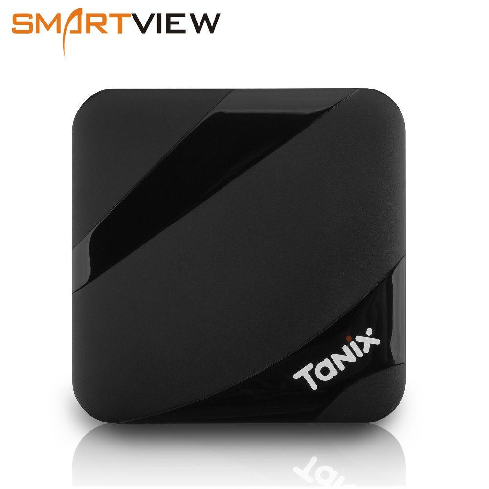 Tanix TX3 MAX 2 GB 16 GB Android 7.1 TV BOX Amlogic S905W Quad Core BT4.1 H.265 4 K 30tps 2.4 GHz WiFi PlayStore pk Mi boîtes