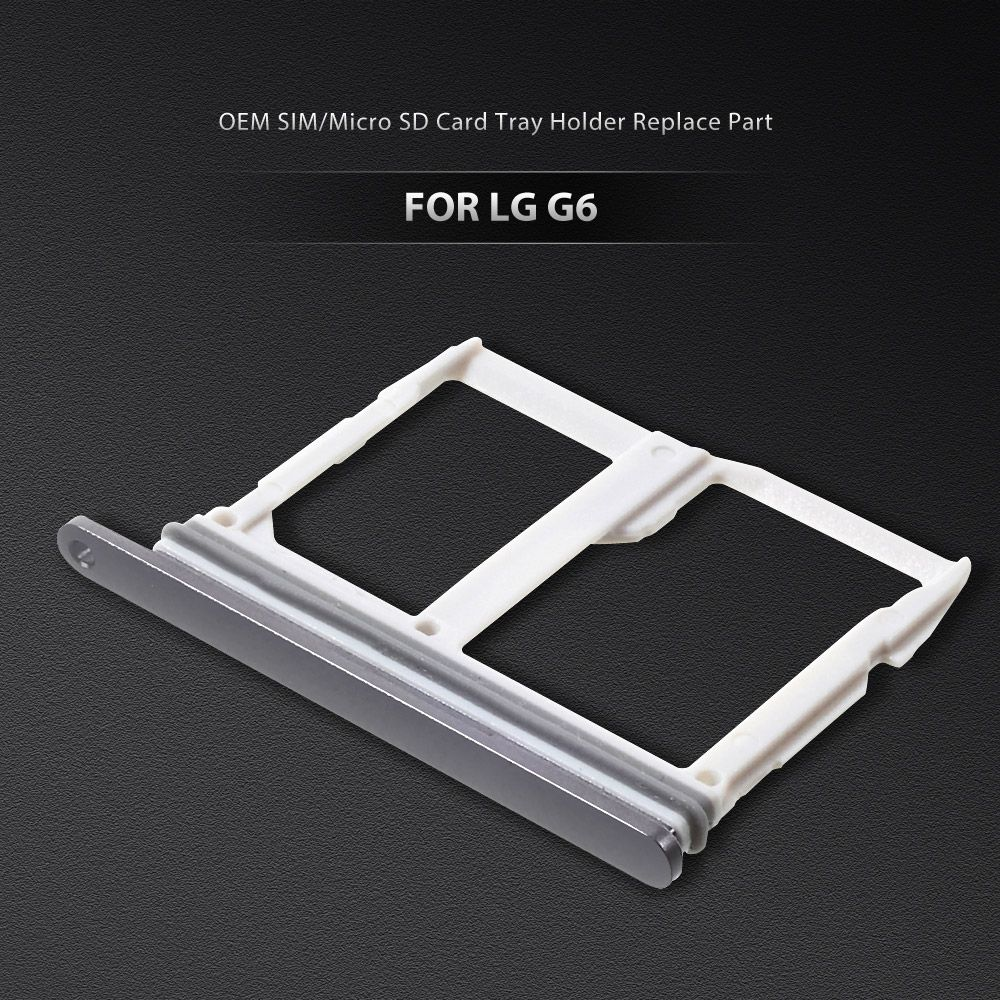 Dulcii for LG G 6 OEM SIM/Micro SD Card Tray Holder Replace Part for LG G6 Black Rose Gold Silver