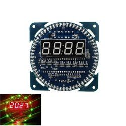 Intelligent Électronique DS1302 Tournant Affichage LED Alarme Électronique Horloge Module LED Affichage de La Température pour DIY Kit