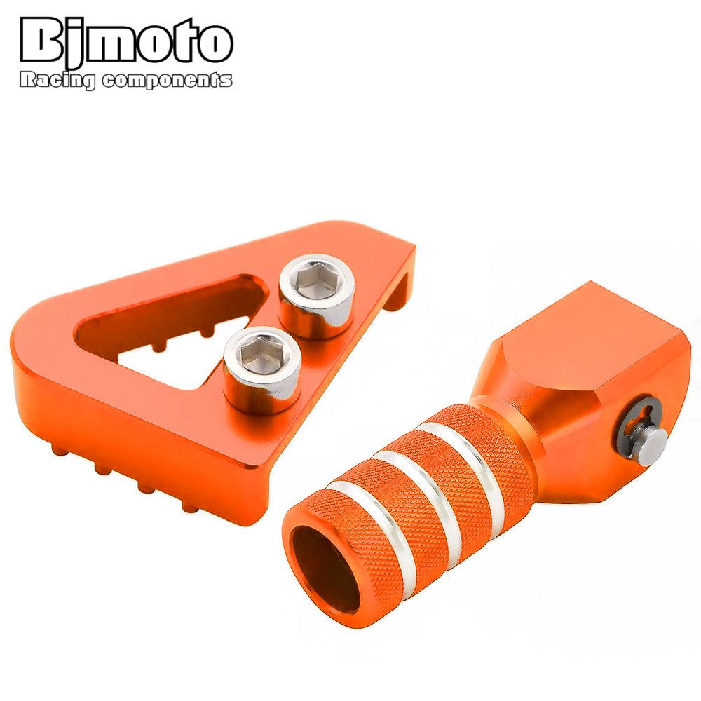 Rear Brake Pedal Step&Gear Shifter Lever Tips Set For KTM SX EXC XCF XC XCW SXF EXCF SMR LC4 Enduro 125 250 300 350 400 450 500