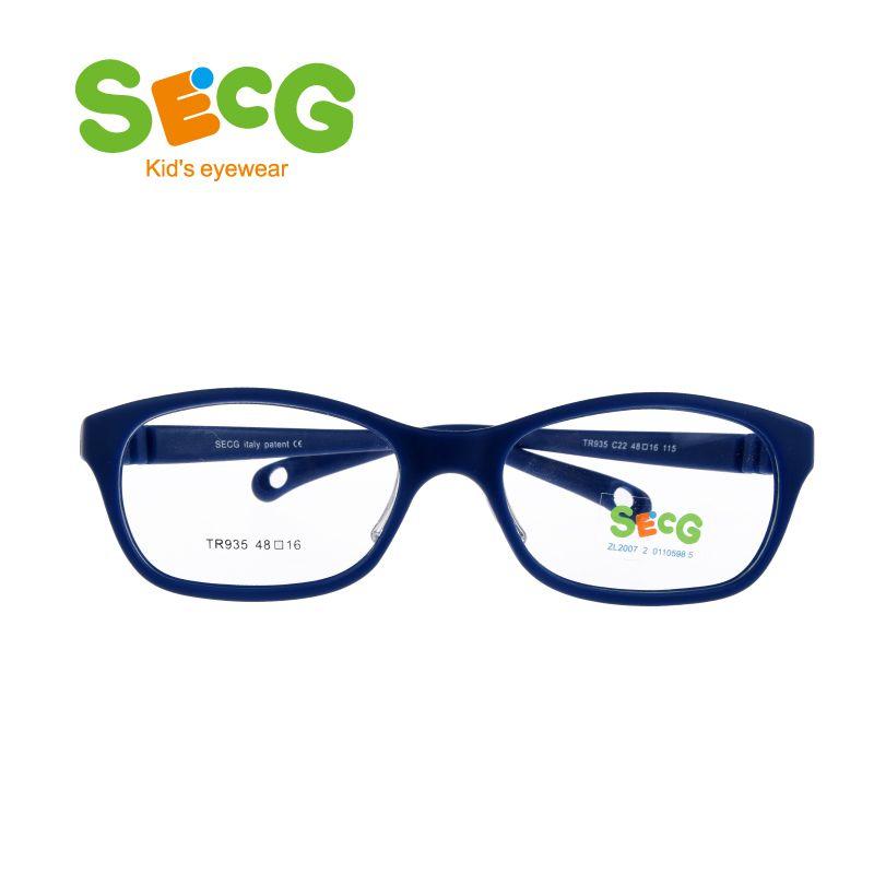 SECG Round Big Kids Frame Flexible Soft Optical Glasses Frame Comfortable Nose Pads Rubber Strap Spectacle Eyeglasses Lunettes