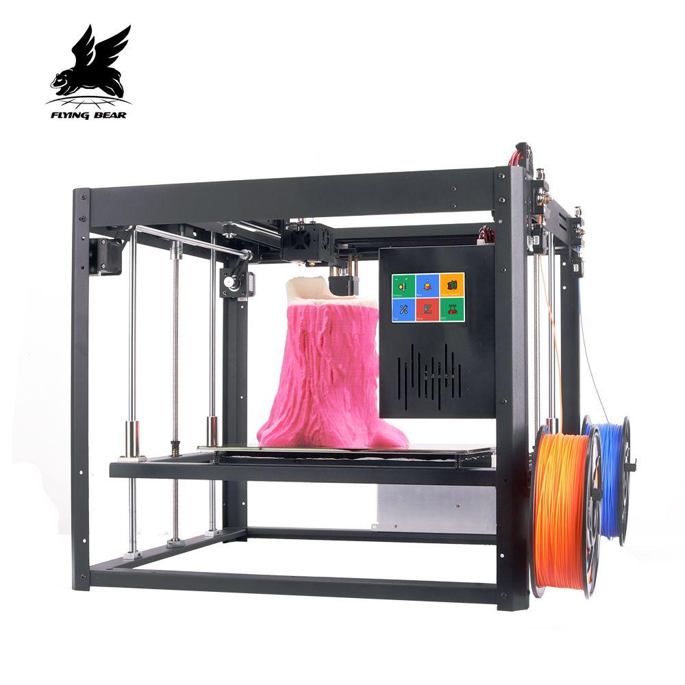 New Vresion Flyingbear Tornado large 3d Printer DIY Full metal Linear rail 3d printer Kit Precision double extruder