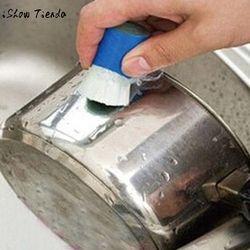 Nouveau En Acier Inoxydable Rod Magic Stick Rouille Remover Nettoyage Lavage Brosse Essuyer Pot Multifonctionnel matériel De Nettoyage (Couleur Aléatoire)