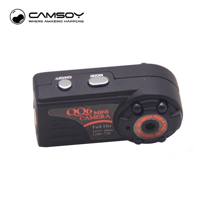 QQ6 Mini caméra Full HD 1080 P grand Angle Micro caméra IR Vision nocturne capteur de détection de mouvement DV DVR caméra petite caméra Web