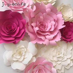 JOY-ENLIFE 2 unids 20 cm DIY flores niños cumpleaños fiesta decoración telón boda Hen party Home Decor suministros