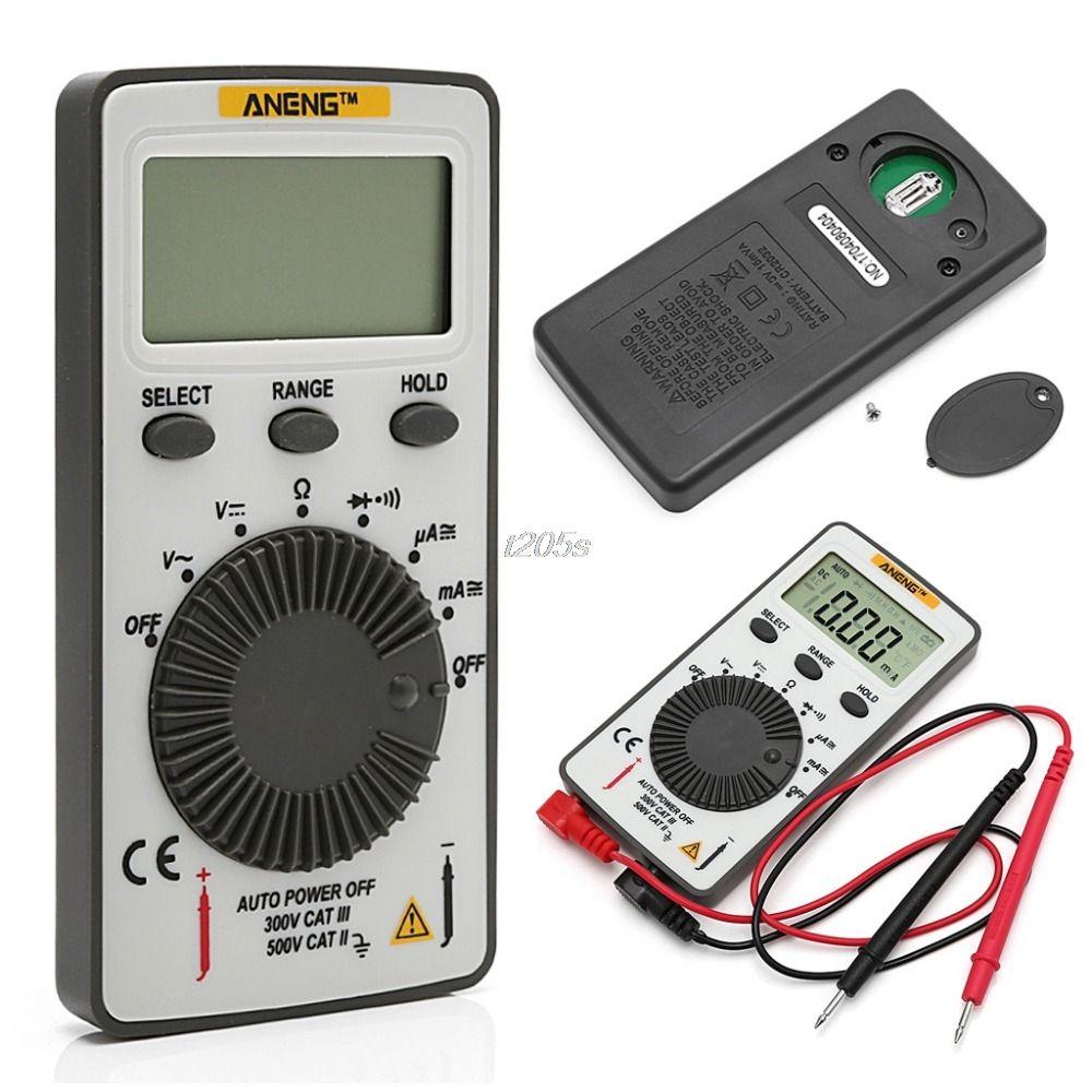 AN101 Pocket Digital Multimeter Backlight AC/DC Automatic Portable Meter Test Tools T12 Drop ship